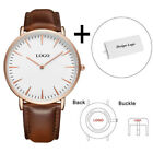 Mens Custom Watch Genuine Leather Engraved Personalized Watch Logo print photoOther Watches - 166739