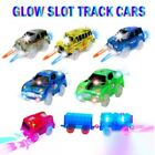 NEW 2/3/5pack LIGHT UP Track Cars Amazing Glow in the Dark Magic Track Car Gift