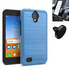 Phone Case for AT&T Prepaid - Axia, Cricket Vision Case ShockProof Brush Cover