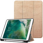 For iPad 9.7 6th 5th Generation Luxury Smart Leather Pencil Holder Case Cover