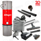 SUPER Deluxe Allegro Central Vacuum Vac 6000 sq ft Electric HOSE Wessel-Werk SET