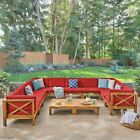 Great Deal Furniture Keith Outdoor Sectional Sofa Set with Coffee Table 9-Piece