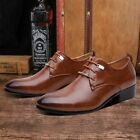 Men's Business Formal Oxfords Leather Shoes Lace Up Brogue Wedding Casual Shoes