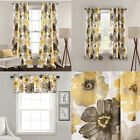 Lush Decor Leah Floral Room Darkening Window Curtains Panel Set of 2