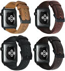 For Apple Watch 3 2 1 38/42mm Retro Genuine Leather iWatch Band Men Casual Strap image