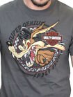 Harley-Davidson Looney Tunes Mens Wile E. Coyote Speed Short Sleeve Grey T-Shirt image