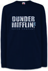 DUNDER MIFFLIN INC Kinder Langarm T-Shirt Paper The Sign Logo Office Firma Logo