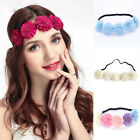 Boho Womens Elastic Flower Hair Band Garland Headband Hair Wreath Fairy Crown