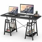 Tribesigns Multifunctional Height Adjustable Computer Desk US Hot With 2 Shelves
