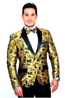 Amsterdam Gold Floral Slim Fit Tuxedo Jacket