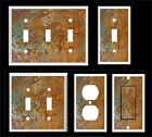 FAUX RUSTY METAL IMAGE # 2 LIGHT SWITCH COVER PLATE OR OUTLET HOME DECOR