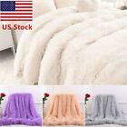 US 130*160cm Long Shaggy Super Soft Throw Blanket Fluffy Faux Fur Cozy Sheet OCC image