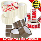 LONG LENGTH TAPE STRONG CLEAR / BROWN / FRAGILE