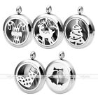 Stainless Steel Essential Oil Aromatherapy Diffuser Locket Pendant For Christmas