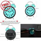 Alarm Clock For Heavy Sleepers, Silent Desk Bedside Travel Alarm Clock, Cute No