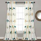 Kyпить Lush Decor Rowley Birds Darkening Window Curtains Panel Set for Living Room 84