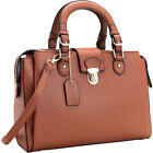 Dasein Satchel with Front Snap Lock Accent 5 Colors