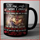 UP To My Wife I Wish I Could Turn Back The Clock Mug Black Ceramic  Tea Cup