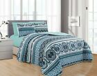 DiamondHome ISRA 6PC Printed Reversible Bedspread, Oversize Coverlet image