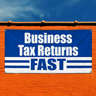 Vinyl Banner Sign Business Tax Returns Fast Business Marketing Advertising Blue $218.48 USD on eBay