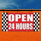 Vinyl Banner Sign Open 24 Hours Auto Body Shop Car Repair Marketing Advertising