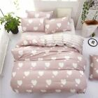 4pcs Bed in a Bag bedding set duvet Quilt Cover Double & King Size sheet AB side image