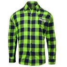 Forever Collectibles NFL Men's Seattle Seahawks Check Long Sleeve Flannel Shirt $34.95 USD on eBay