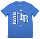 Majestic MLB Youth Tampa Bay Rays Short Sleeve AC Team Icon Tee on Ebay