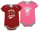 OuterStuff MLB Infant Girls Houston Astros 2 Pack Bodysuit Set on Ebay