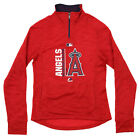 Majestic MLB Big Girls Los Angeles Angels AC Team Icon 1/4 Zip Fleece, Red on Ebay