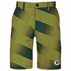 Forever Collectibles NFL Men's Green Bay Packers Diagonal Stripe Walking Shorts