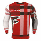 Forever Collectibles NFL Men's Atlanta Falcons Plaid Crew Neck Sweater $39.99 USD on eBay