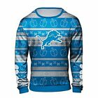 Forever Collectibles NFL Men's Detroit Lions Hanukkah Ugly Crew Neck Sweater $44.99 USD on eBay