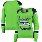 Forever Collectibles NFL Women's Seattle Seahawks Glitter Scoop Neck Sweater $34.99 USD on eBay