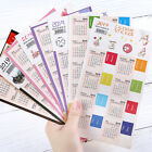 2Pcs 2018-2019 Calendar Assist Classify Stationery Label Adhesive Sticker Decor