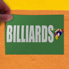 Decal Sticker Billiards Green and white Sports Game Outdoor Store Sign Green $189.98 USD on eBay