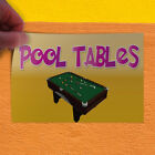 Decal Sticker Pool Tables #1 Lifestyle pool table Outdoor Store Sign Yellow $202.46 USD on eBay