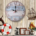 Large Vintage Rustic Wall Clock Kitchen Antique Shabby Chic Retro Home SQL