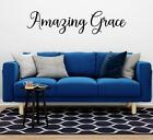 Amazing Grace Christian Vinyl Wall Decal Wall Art Religious Home Decor