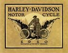 HARLEY DAVIDSON MOTORCYCLE BIKE CYCLE 1910 TRUSTY FRIEND VINTAGE POSTER REPRO $43.32 CAD on eBay