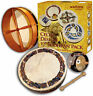 More images of Waltons 12 BODHRAN GIFT PACK. Small Irish drum with DVD. Celtic Animal design.