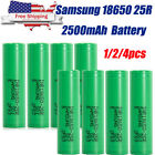 Kyпить 4Pc for Samsung 18650 25R 2500mAh 35A Rechargeable Battery for Vape Mods на еВаy.соm