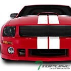 SMOKE HEAD LIGHTS DY+BLK HORIZONTAL FRONT GRILL GRILLE 2005-2009 FORD MUSTANG V6