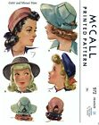 Внешний вид - McCall # 972 Hat Cap Beret Fabric sewing pattern Vintage Millinery 1940's Girl's