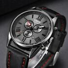 Relogio Masculino Business Watch Gift Men's Leather Band Sports Date image