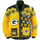 FOCO NFL Men's Green Bay Packers Holiday Ugly Cardigan Sweater $49.99 USD on eBay