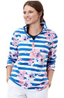 Joules  Fairdale Print Ladies Sweatshirt Colour Blue Stripe Floral