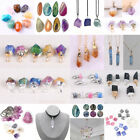 Lots Natural Crystal Gemstones Agate Slices Healing Stone Pendant Jewelry Making image