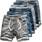 Sublevel Herren Jogging Shorts Freizeit Bermuda kurze Hose Jeans Sweat Denim