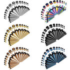 BodyJ4You 28PC Gauges Kit Ear Stretching 12G-0G Tunnels Plug Tapers Piercing Set image